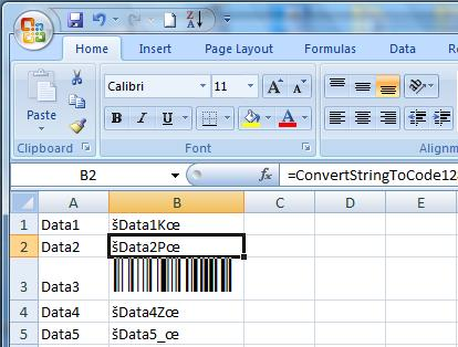 Code 128 Excel Barcode Add In 1.0.1 full